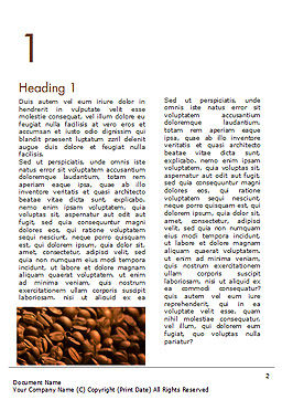 Blurry Coffee Beans Word Template, First Inner Page, 15239, Food & Beverage — PoweredTemplate.com