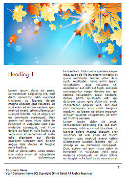 Beautiful Sunny Autumn Word Template, First Inner Page, 15240, Nature & Environment — PoweredTemplate.com