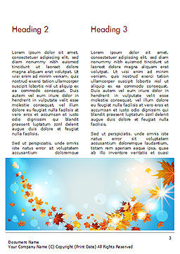 Beautiful Sunny Autumn Word Template, Second Inner Page, 15240, Nature & Environment — PoweredTemplate.com