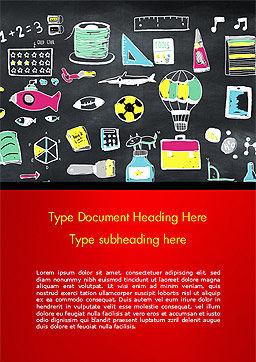 Extracurricular Activities Word Template, Cover Page, 15245, Education & Training — PoweredTemplate.com