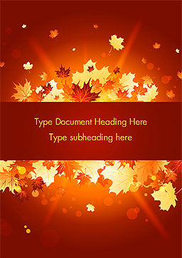 Bright Sunny Autumn Word Template, Cover Page, 15247, Nature & Environment — PoweredTemplate.com