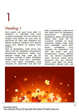 Bright Sunny Autumn Word Template, First Inner Page, 15247, Nature & Environment — PoweredTemplate.com