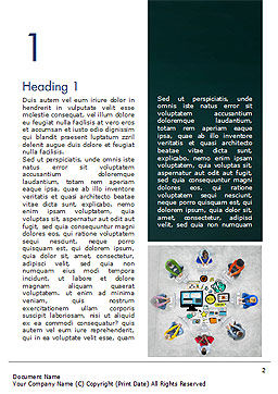 SMM Word Template, First Inner Page, 15248, Business Concepts — PoweredTemplate.com