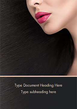Beautiful Woman's Face Word Template, Cover Page, 15251, Careers/Industry — PoweredTemplate.com