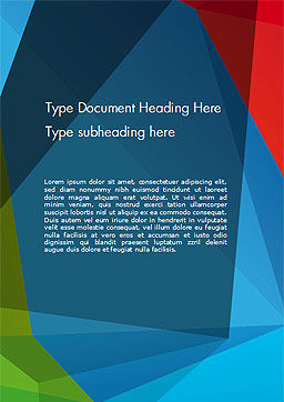 Abstract Polygonal Background Word Template, Cover Page, 15255, Abstract/Textures — PoweredTemplate.com