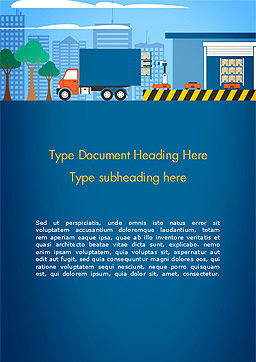 Warehouse Automation Word Template, Cover Page, 15257, Careers/Industry — PoweredTemplate.com
