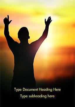 Sunrise Prayer Word Template, Cover Page, 15258, Religious/Spiritual — PoweredTemplate.com