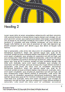 Roads Illustration Word Template, Second Inner Page, 15259, Construction — PoweredTemplate.com