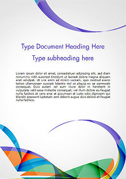Colorful Abstract Background with Sharp Curls Word Template, Cover Page, 15262, Abstract/Textures — PoweredTemplate.com