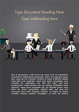Corporate Meeting Word Template, Cover Page, 15263, People — PoweredTemplate.com