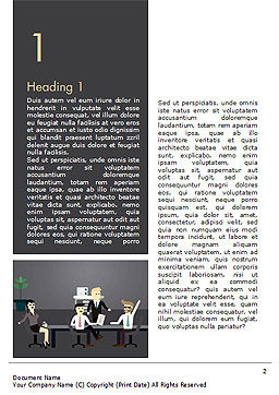 Corporate Meeting Word Template, First Inner Page, 15263, People — PoweredTemplate.com