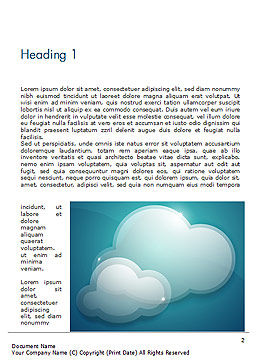 Turquoise Sparkling Clouds Word Template, First Inner Page, 15264, Nature & Environment — PoweredTemplate.com