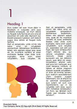 Human Thoughts Word Template, First Inner Page, 15267, People — PoweredTemplate.com
