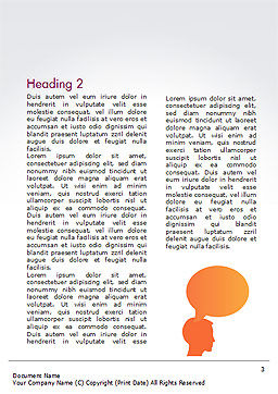 Human Thoughts Word Template, Second Inner Page, 15267, People — PoweredTemplate.com