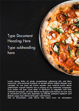 Pepperoni Pizza Word Template, Cover Page, 15269, Food & Beverage — PoweredTemplate.com