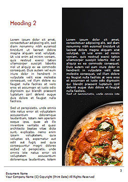 Pepperoni Pizza Word Template, Second Inner Page, 15269, Food & Beverage — PoweredTemplate.com