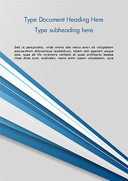 Blue and White Diagonal Lines Abstract Word Template, Cover Page, 15270, Abstract/Textures — PoweredTemplate.com