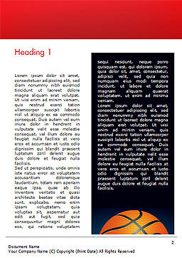 Basketball Ball on Blue Background Word Template, First Inner Page, 15274, Sports — PoweredTemplate.com