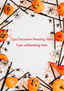 Halloween Decorations Word Template, Cover Page, 15276, Holiday/Special Occasion — PoweredTemplate.com