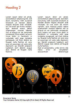 Halloween Balloons Word Template, Second Inner Page, 15277, Holiday/Special Occasion — PoweredTemplate.com