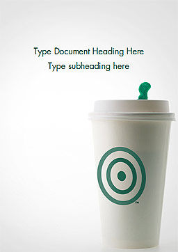 Starbucks Word Template, Cover Page, 15278, Food & Beverage — PoweredTemplate.com