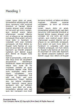 Computer Hacker Word Template, First Inner Page, 15280, Technology, Science & Computers — PoweredTemplate.com