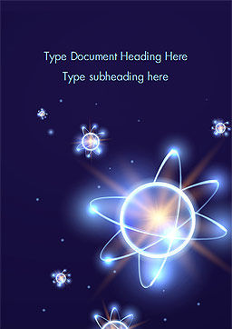 Shining Atom Model Word Template, Cover Page, 15282, Technology, Science & Computers — PoweredTemplate.com