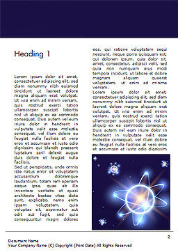 Shining Atom Model Word Template, First Inner Page, 15282, Technology, Science & Computers — PoweredTemplate.com
