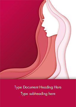 Women Silhouette Word Template, Cover Page, 15284, Careers/Industry — PoweredTemplate.com