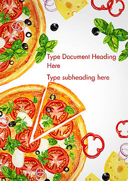 Margarita Pizza Word Template, Cover Page, 15286, Food & Beverage — PoweredTemplate.com