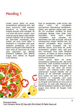 Margarita Pizza Word Template, First Inner Page, 15286, Food & Beverage — PoweredTemplate.com