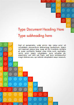 Lego Background Word Template, Cover Page, 15287, Education & Training — PoweredTemplate.com