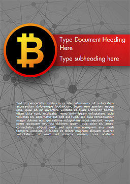 Bitcoin Icon Word Template, Cover Page, 15290, Technology, Science & Computers — PoweredTemplate.com