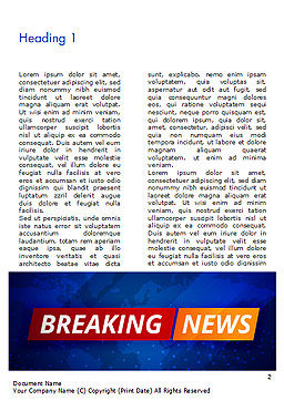Breaking News Background Word Template, First Inner Page, 15291, Careers/Industry — PoweredTemplate.com
