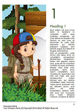 Girl Scout Word Template, First Inner Page, 15292, Education & Training — PoweredTemplate.com