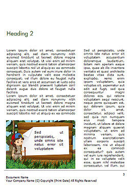 Girl Scout Word Template, Second Inner Page, 15292, Education & Training — PoweredTemplate.com