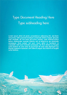 Marine Pollution Concept Word Template, Cover Page, 15293, Nature & Environment — PoweredTemplate.com