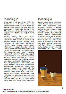 Hot Drinks Word Template, Second Inner Page, 15294, Food & Beverage — PoweredTemplate.com