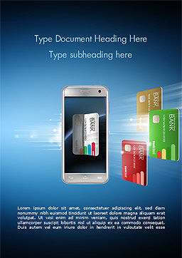 Mobile Payments Word Template, Cover Page, 15296, Financial/Accounting — PoweredTemplate.com