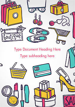 Boutique Word Template, Cover Page, 15297, Careers/Industry — PoweredTemplate.com