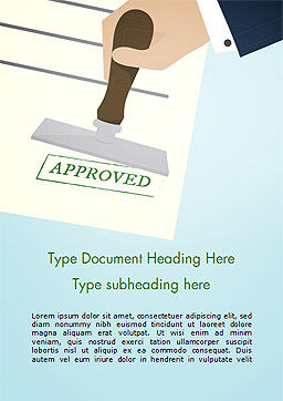 Stamp with Green Text Approved, Cover Page, 15299, Business Concepts — PoweredTemplate.com