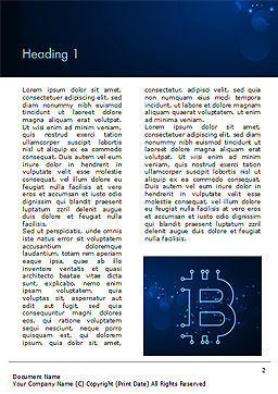Digital Bitcoin Sign Word Template, First Inner Page, 15300, Technology, Science & Computers — PoweredTemplate.com