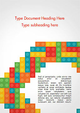 Colorful Lego Blocks Word Template, Cover Page, 15301, Business Concepts — PoweredTemplate.com