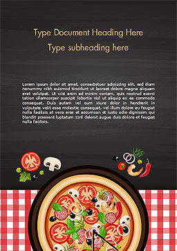 Spicy Shrimp Pizza Word Template, Cover Page, 15303, Food & Beverage — PoweredTemplate.com