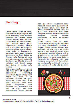 Spicy Shrimp Pizza Word Template, First Inner Page, 15303, Food & Beverage — PoweredTemplate.com
