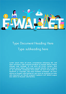 E-Wallet Word Template, Cover Page, 15304, Financial/Accounting — PoweredTemplate.com