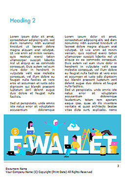 E-Wallet Word Template, Second Inner Page, 15304, Financial/Accounting — PoweredTemplate.com
