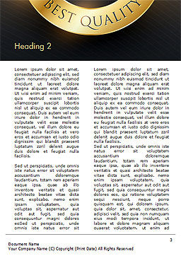 Best Quality Word Template, Second Inner Page, 15305, Business Concepts — PoweredTemplate.com