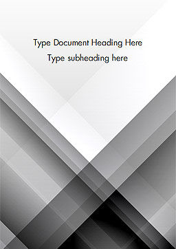 Gray Diagonal Stripes Word Template, Cover Page, 15308, Abstract/Textures — PoweredTemplate.com