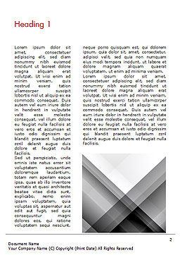 Gray Diagonal Stripes Word Template, First Inner Page, 15308, Abstract/Textures — PoweredTemplate.com